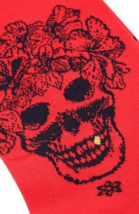 Мужские хлопковые носки STORY LORIS красного цвета, арт. 5473 | Фото 2 (Кросс-КТ: бельё; Материал внешний: Хлопок)