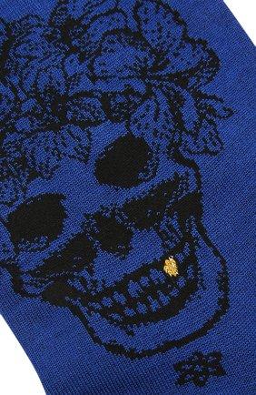 Мужские хлопковые носки STORY LORIS синего цвета, арт. 5473 | Фото 2 (Материал внешний: Хлопок; Кросс-КТ: бельё)