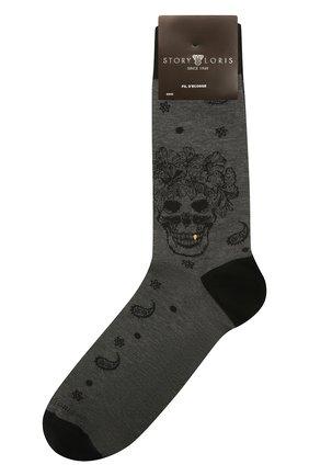 Мужские хлопковые носки STORY LORIS серого цвета, арт. 5473 | Фото 1 (Кросс-КТ: бельё; Материал внешний: Хлопок)