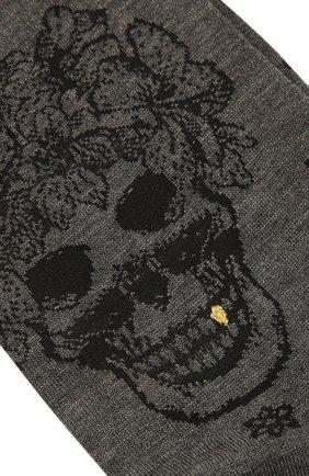 Мужские хлопковые носки STORY LORIS серого цвета, арт. 5473 | Фото 2 (Кросс-КТ: бельё; Материал внешний: Хлопок)