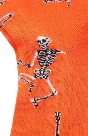 Мужские хлопковые носки STORY LORIS оранжевого цвета, арт. 5483 | Фото 2 (Материал внешний: Хлопок; Кросс-КТ: бельё)