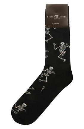 Мужские хлопковые носки STORY LORIS черного цвета, арт. 5483 | Фото 1 (Кросс-КТ: бельё; Материал внешний: Хлопок)