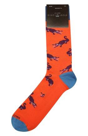 Мужские хлопковые носки STORY LORIS оранжевого цвета, арт. 5501 | Фото 1 (Кросс-КТ: бельё; Материал внешний: Хлопок)