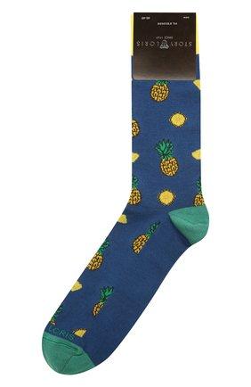 Мужские хлопковые носки STORY LORIS синего цвета, арт. 5503 | Фото 1 (Материал внешний: Хлопок; Кросс-КТ: бельё)