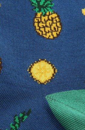 Мужские хлопковые носки STORY LORIS синего цвета, арт. 5503 | Фото 2 (Материал внешний: Хлопок; Кросс-КТ: бельё)