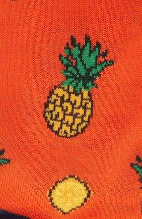 Мужские хлопковые носки STORY LORIS оранжевого цвета, арт. 5503 | Фото 2 (Материал внешний: Хлопок; Кросс-КТ: бельё)
