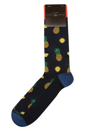Мужские хлопковые носки STORY LORIS темно-синего цвета, арт. 5503 | Фото 1 (Кросс-КТ: бельё; Материал внешний: Хлопок)