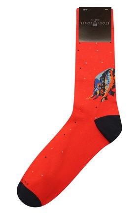 Мужские хлопковые носки STORY LORIS красного цвета, арт. 5531 | Фото 1 (Материал внешний: Хлопок; Кросс-КТ: бельё)