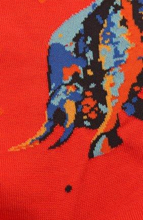 Мужские хлопковые носки STORY LORIS красного цвета, арт. 5531 | Фото 2 (Материал внешний: Хлопок; Кросс-КТ: бельё)