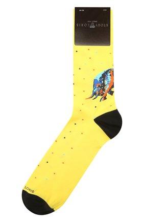 Мужские хлопковые носки STORY LORIS желтого цвета, арт. 5531 | Фото 1 (Материал внешний: Хлопок; Кросс-КТ: бельё)