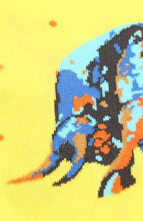 Мужские хлопковые носки STORY LORIS желтого цвета, арт. 5531 | Фото 2 (Материал внешний: Хлопок; Кросс-КТ: бельё)