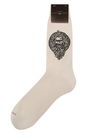 Мужские хлопковые носки STORY LORIS бежевого цвета, арт. 5539 | Фото 1 (Кросс-КТ: бельё; Материал внешний: Хлопок)