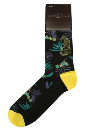 Мужские хлопковые носки STORY LORIS черного цвета, арт. 5575 | Фото 1 (Кросс-КТ: бельё; Материал внешний: Хлопок)