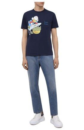 Мужская хлопковая футболка MC2 SAINT BARTH темно-синего цвета, арт. STBM AUSTIN/AUS0001   Фото 2