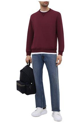 Мужской хлопковый свитшот BRUNELLO CUCINELLI бордового цвета, арт. MTU149073G | Фото 2
