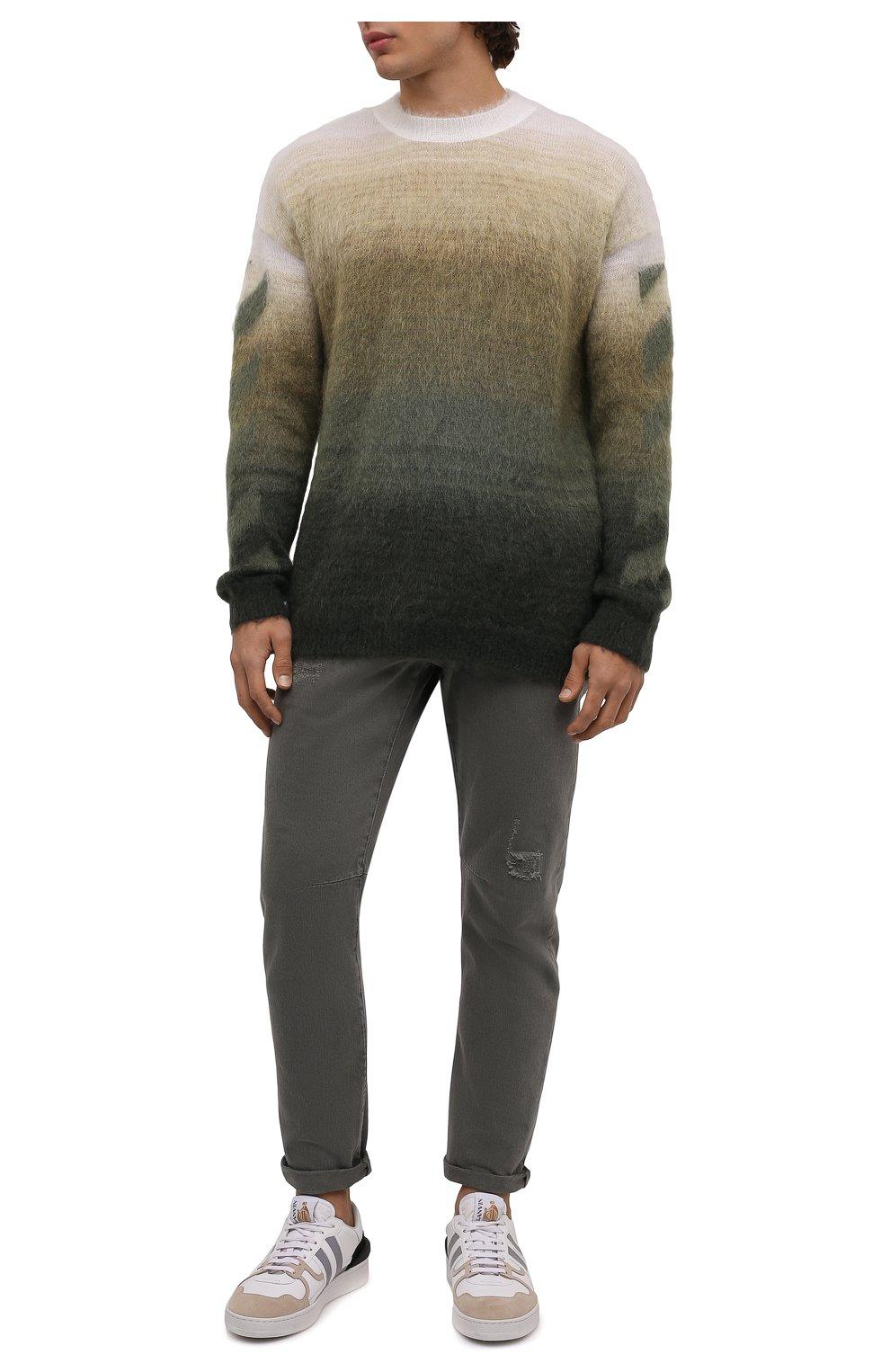 Мужские джинсы BRUNELLO CUCINELLI хаки цвета, арт. M262PX2340   Фото 2