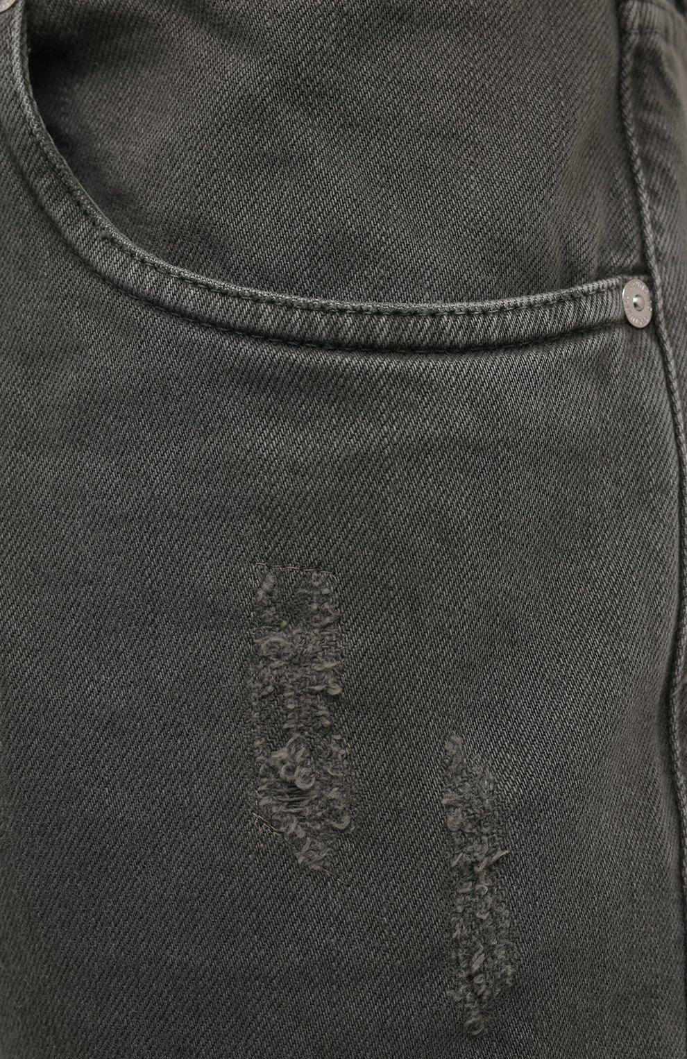 Мужские джинсы BRUNELLO CUCINELLI хаки цвета, арт. M262PX2340   Фото 5