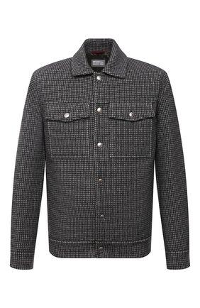 Мужская куртка из шерсти и кашемира BRUNELLO CUCINELLI серого цвета, арт. MQ4409954 | Фото 1