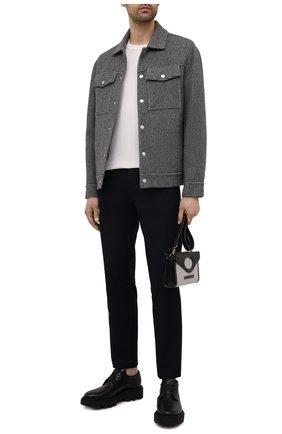 Мужская куртка из шерсти и кашемира BRUNELLO CUCINELLI серого цвета, арт. MQ4409954 | Фото 2