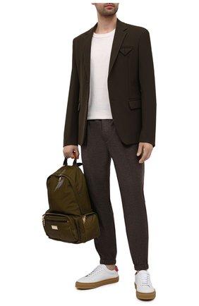 Мужские джоггеры из шерсти и кашемира LORO PIANA темно-коричневого цвета, арт. FAL3071   Фото 2