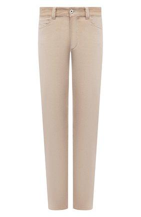 Мужские хлопковые брюки LORO PIANA бежевого цвета, арт. FAI2480 | Фото 1 (Стили: Кэжуэл; Случай: Повседневный; Длина (брюки, джинсы): Стандартные; Материал внешний: Хлопок)