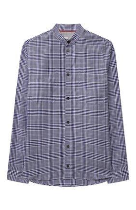 Детская хлопковая рубашка BRUNELLO CUCINELLI темно-синего цвета, арт. BW642C330C   Фото 1