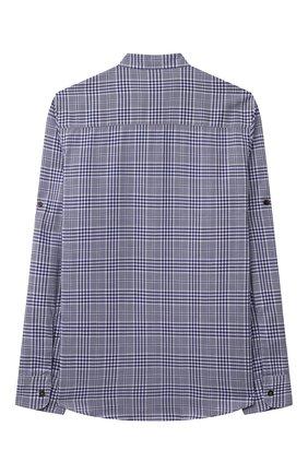 Детская хлопковая рубашка BRUNELLO CUCINELLI темно-синего цвета, арт. BW642C330C   Фото 2