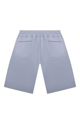 Детские хлопковые шорты BRUNELLO CUCINELLI голубого цвета, арт. BD874E392C   Фото 2 (Материал внешний: Хлопок; Ростовка одежда: 12 лет   152 см)