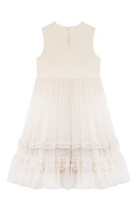Детское платье FENDI молочного цвета, арт. JFB446/AEZF/3A-6A | Фото 2