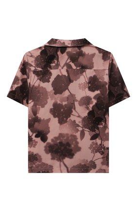Детская хлопковая рубашка FENDI розового цвета, арт. JUC007/AEZA/3A-6A | Фото 2
