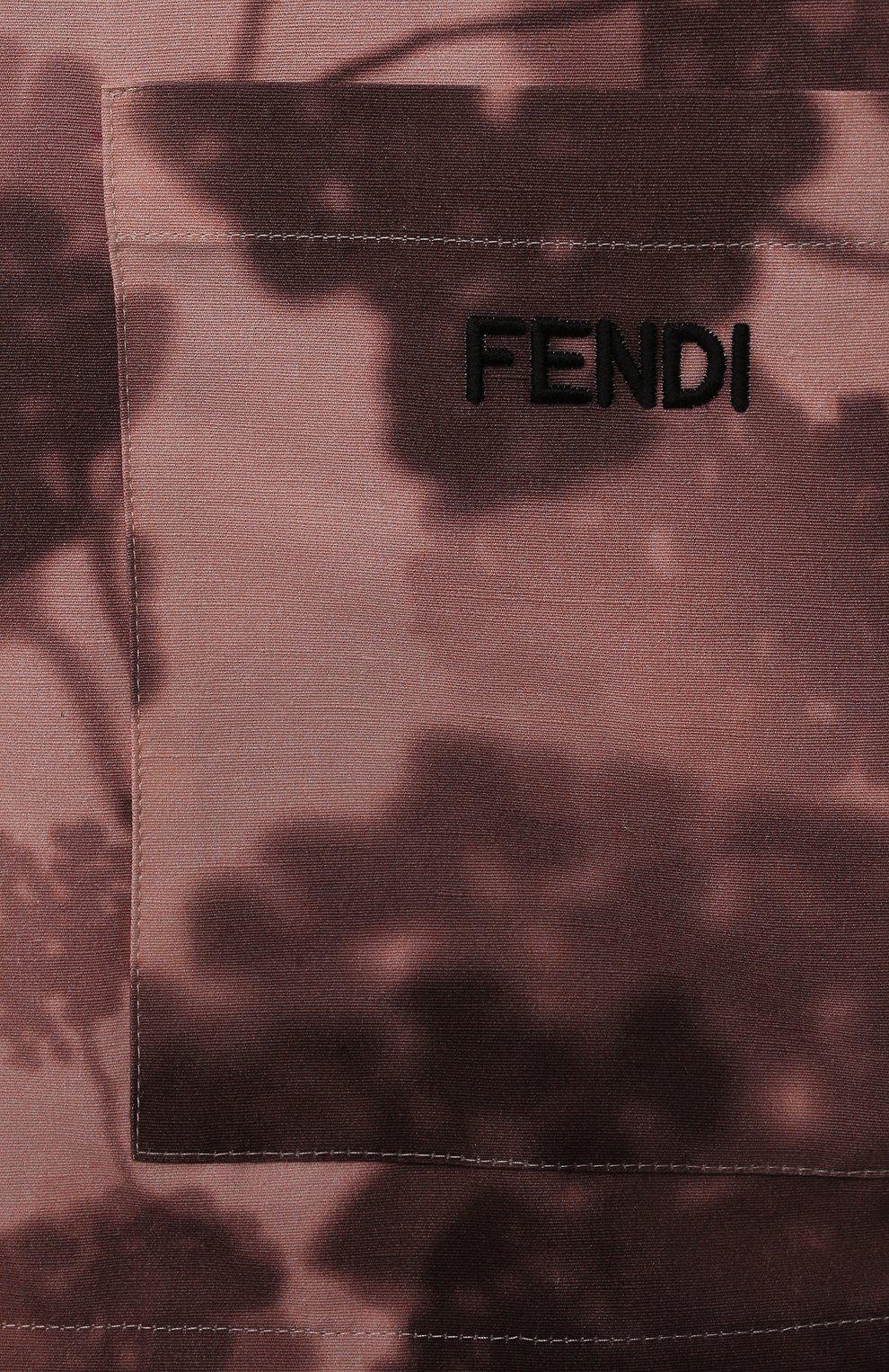 Детская хлопковая рубашка FENDI розового цвета, арт. JUC007/AEZA/3A-6A | Фото 3 (Рукава: Короткие; Случай: Повседневный; Материал внешний: Хлопок; Ростовка одежда: 6 лет | 116 см)