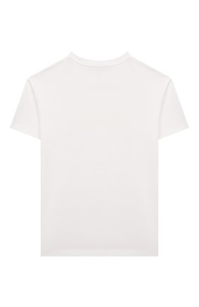 Детская хлопковая футболка FENDI белого цвета, арт. JUI028/7AJ/3A-6A | Фото 2
