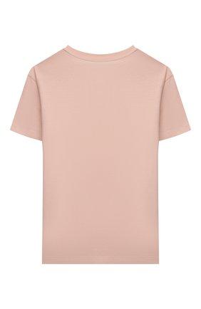 Детская хлопковая футболка FENDI светло-розового цвета, арт. JUI028/7AJ/3A-6A | Фото 2