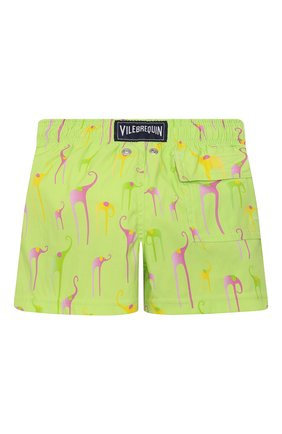 Детские плавки-шорты VILEBREQUIN светло-зеленого цвета, арт. JIIH0F04/417 | Фото 2