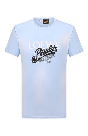 Мужская хлопковая футболка loewe x paula's ibiza LOEWE голубого цвета, арт. H616Y22X09 | Фото 1