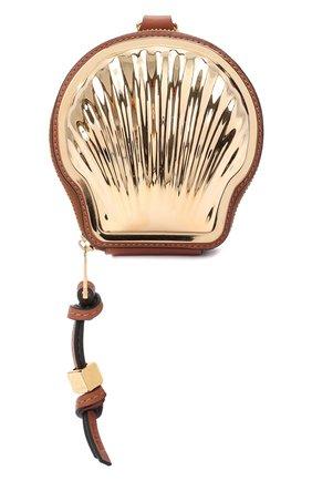 Женская сумка shell mini loewe x paula's ibiza LOEWE золотого цвета, арт. C623R25X02   Фото 1