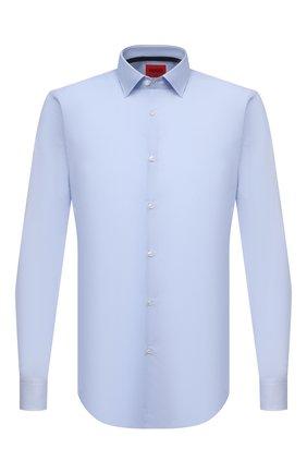 Мужская хлопковая сорочка HUGO голубого цвета, арт. 50453406 | Фото 1