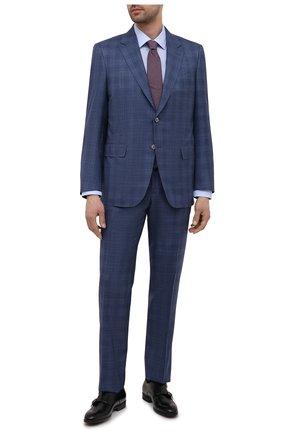 Мужская хлопковая сорочка HUGO голубого цвета, арт. 50453406 | Фото 2