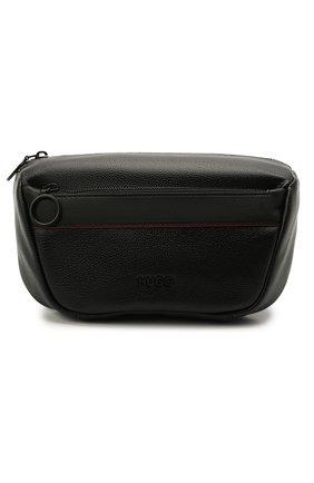 Мужская поясная сумка HUGO черного цвета, арт. 50451849 | Фото 1 (Материал: Экокожа; Ремень/цепочка: На ремешке)