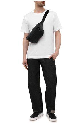 Мужская поясная сумка HUGO черного цвета, арт. 50451849 | Фото 2 (Материал: Экокожа; Ремень/цепочка: На ремешке)