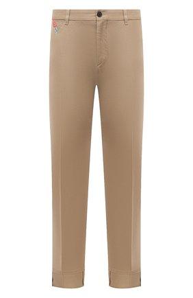 Мужские хлопковые брюки VERSACE бежевого цвета, арт. A89392/A229958 | Фото 1