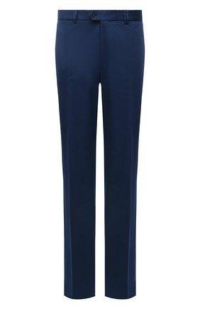 Мужские хлопковые брюки HILTL синего цвета, арт. 73295/60-70   Фото 1