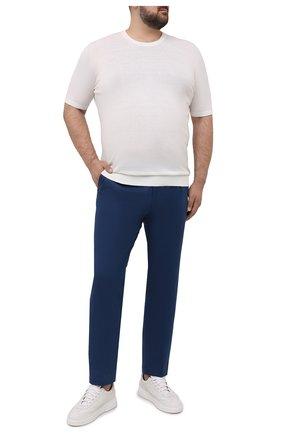 Мужские хлопковые брюки HILTL синего цвета, арт. 73295/60-70   Фото 2
