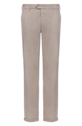 Мужские брюки из шерсти и хлопка HILTL бежевого цвета, арт. 21335/60-70   Фото 1