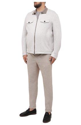 Мужские брюки из шерсти и хлопка HILTL бежевого цвета, арт. 21335/60-70   Фото 2