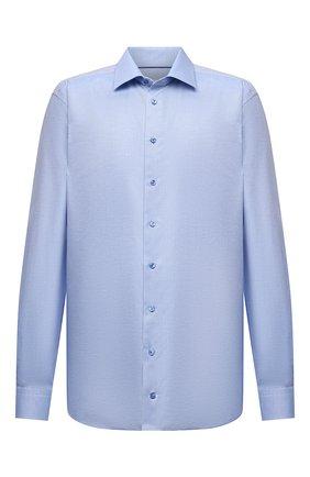 Мужская сорочка из хлопка и льна ETON голубого цвета, арт. 1000 02305 | Фото 1