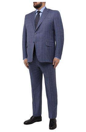 Мужская сорочка из хлопка и льна ETON голубого цвета, арт. 1000 02305 | Фото 2