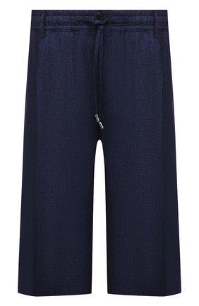 Мужские льняные шорты CORTIGIANI синего цвета, арт. 113660/0000/2385/60-70 | Фото 1