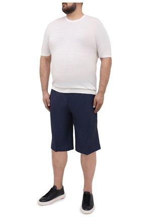 Мужские льняные шорты CORTIGIANI синего цвета, арт. 113660/0000/2385/60-70 | Фото 2