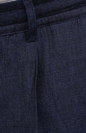 Мужские льняные шорты CORTIGIANI синего цвета, арт. 113660/0000/2385/60-70 | Фото 5 (Мужское Кросс-КТ: Шорты-одежда; Принт: Без принта; Длина Шорты М: Ниже колена; Материал внешний: Лен; Стили: Кэжуэл)